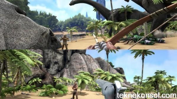 Split-Screen özelliği ARK: Survival Evolved