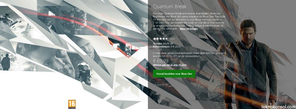 Quantum Break'in indirme boyutu belli oldu