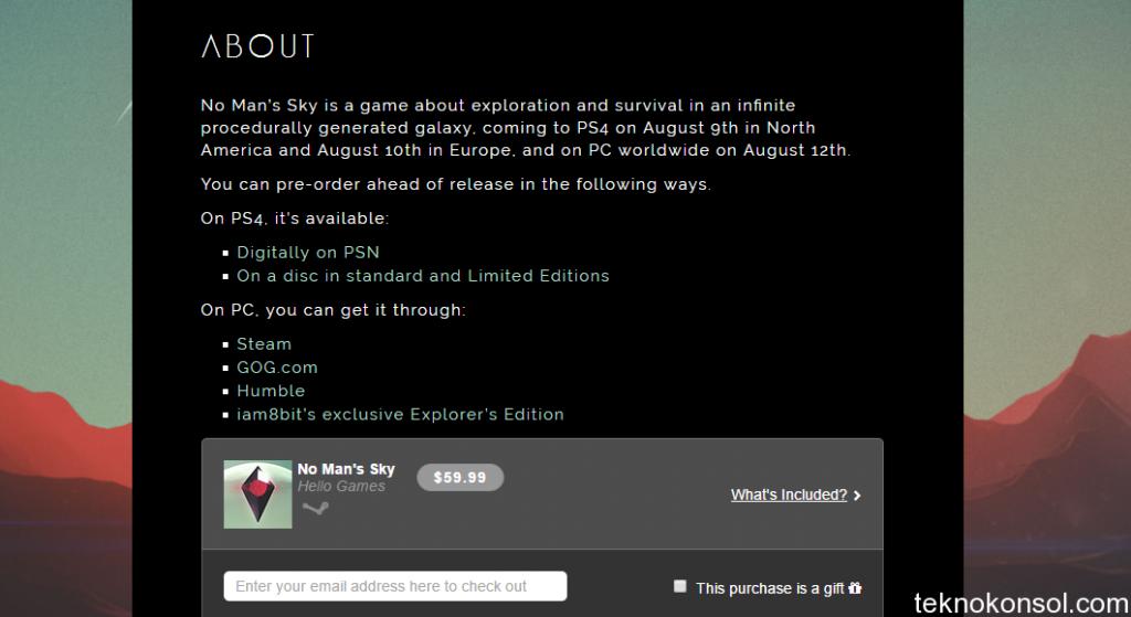 No Man's Sky PC'de Ertelendi
