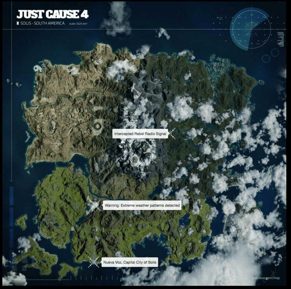 Just Cause 4 haritası
