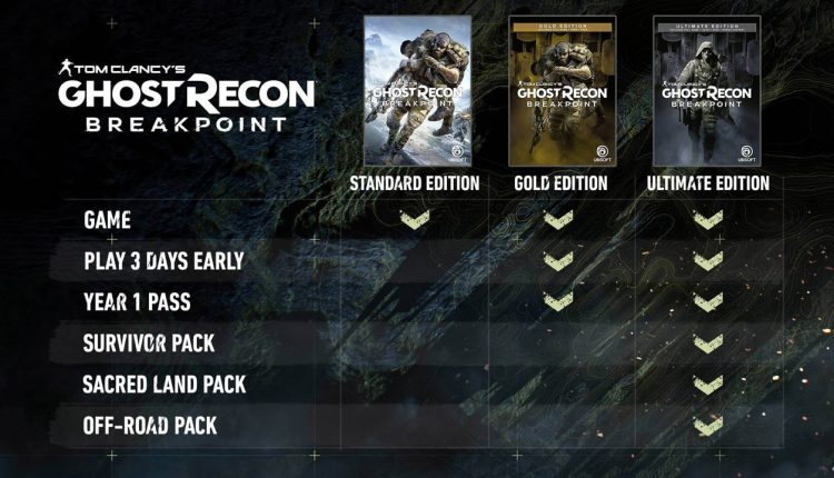 tom clancy's ghost recon breakpoint editions